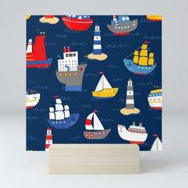 Sailing Away Out To Sea Mini Art Print