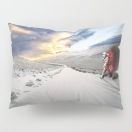 Astronaut on Fire Pillow Sham