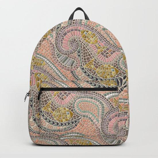 mosaic fish pastel Backpack