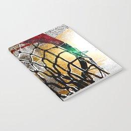 Basketball art swoosh vs 9 Notebook