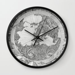 Mappa Mundi (Map of the World) Wall Clock