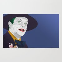 jack nicholson Area & Throw Rugs featuring Joker Nicholson by FSDisseny