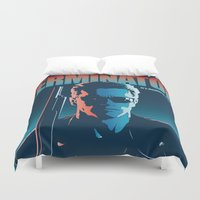 terminator Duvet Covers featuring Terminator 2 - Alternative Poster by Lorenzo Imperato