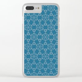 Hexagonal Circles - Stone Clear iPhone Case