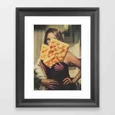 Working for crackers Framed Art Print