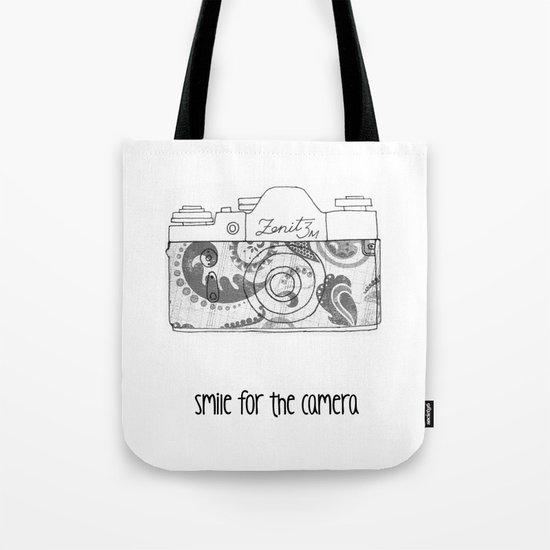 Smile For The Camera. Tote Bag