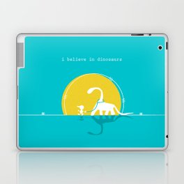 i believe in dinosaurs Laptop & iPad Skin