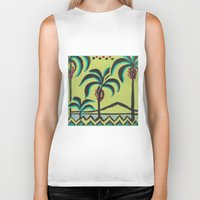 palm trees Biker Tanks featuring Palm Trees by Abundance