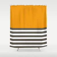 joy division Shower Curtains featuring Division by Yasmina Baggili
