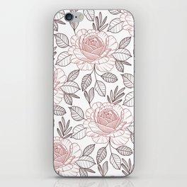 Pink power iPhone Skin