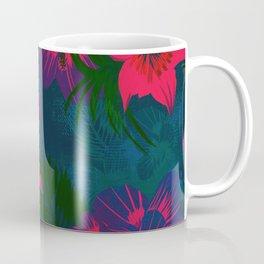 Tropical Floral Pattern Coffee Mug