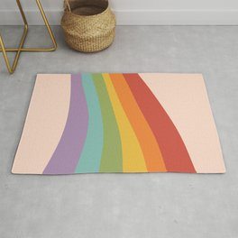 Rainbow Stripes 4 Rug