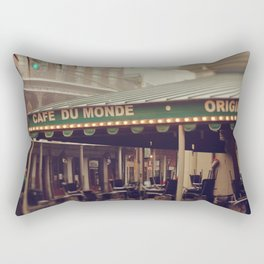 Foggy Cafe Du Monde Rectangular Pillow