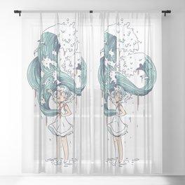 Daughter of the Sea Sheer Curtain