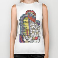 scales Biker Tanks featuring Cascading Scales by CharlieValintyne