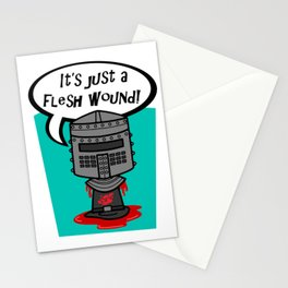 it's just a flesh wound! Stationery Cards
