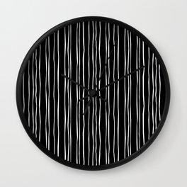 Wide Black Stripe Wall Clock