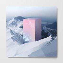 Geometric shape in the mountains Metal Print