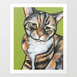 Kiwi the Kitty Art Print