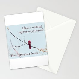 Visitor from Heaven Stationery Cards