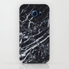 Real Marble Black Galaxy S6 Slim Case