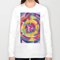 acid Long Sleeve T-shirts featuring Acid Blossom by Eleaxart