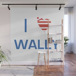 I Heart Wally Wall Mural