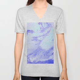 Blue Ocean Waves Unisex V-Neck