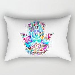 Watercolor Hamsa Hand Rectangular Pillow