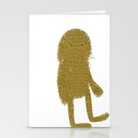 sasquatch Stationery Cards featuring Sasquatch man by Lori Joy Smith
