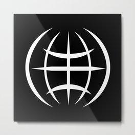 World on black background #society6 #decor #buyart #artprint Metal Print