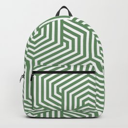 Russian green - green - Minimal Vector Seamless Pattern Backpack