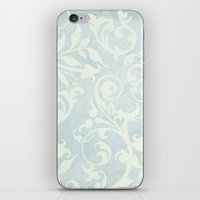 shabby chic iPhone & iPod Skins featuring Shabby Chic Damask by Miriam Hahn