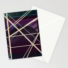 Crossroads - purple graphic Stationery Cards