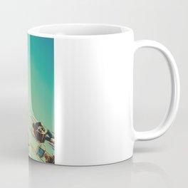 Vintage Chain Swing Ride on Blue Sky  Coffee Mug