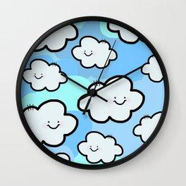 Cheery Cloud Cluster Wall Clock