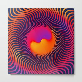 Psychedelic Sun   Abstract art   Abstract world Metal Print