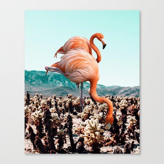 Flamingos In The Desert #society6 #artprints #flamingo Canvas Print