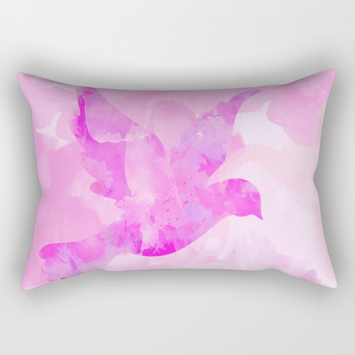 Abstract Flying Dove Rectangular Pillow