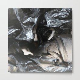 black plastic 01 Metal Print