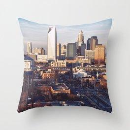Queen City Shower Curtain Throw Pillow