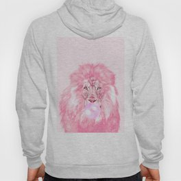 Lion Chewing Bubble Gum in Pink Hoody