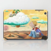 the little prince iPad Cases featuring Little Prince with sunflower by Fabio Marascio