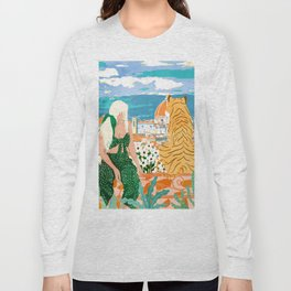 The Italian View #painting #illustration Long Sleeve T-shirt