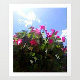 Glitchin' Flowers Art Print