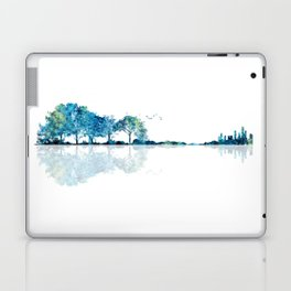 Nature Guitar - Watercolor Blues Laptop & iPad Skin