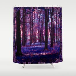 Abstract Forest Shower Curtain