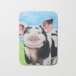 Happy Pig Painting Bath Mat