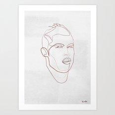 One line Cristiano Ronaldo Art Print