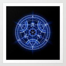 Human Transmutation Circle Art Print